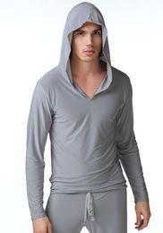 Mens sexy robes online shopping - men sleep sets full sleeve sexy mens robes sleep set hoodies suit bathing suits sleepwear bathrobe coat clothes Pajamas