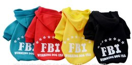 Letter Sweatshirts Canada - A45 dog coat and dog Sweatshirts winter FBI letter design pet dog clothes pet outfits cheap dog clothes