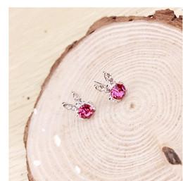 $enCountryForm.capitalKeyWord Canada - Hot Selling High Quality rabbit ear crystal Earrings For Women New Supplies Fashion Jewelry Charm Stud Earrings Beautiful Christmas gift