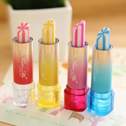 Discount lipstick erasers - Lipstick Rotary Rubber Eraser Kawaii Stationery Student Prize Children Gift Office School Supplies