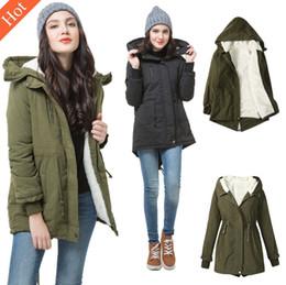 $enCountryForm.capitalKeyWord Canada - Womens Winter Fleece Hooded Parka Coat Overcoat Long Jacket Trench Warm Outwear