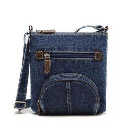 $enCountryForm.capitalKeyWord Canada - Hot sale fashion retro dark blue Solid denim handbag crossbody shoulder bag women messenger bags fashion small ladies bag bolsas