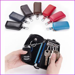 $enCountryForm.capitalKeyWord NZ - Multi-function Car Key Holder Organizer ger, PU Leather Zipper Key Wallet Case Box Bags, Car Keychain for Women Men