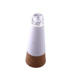 RubbeR bottle coRk online shopping - New Magic Party Decor Cork Shaped Rechargeable USB LED Night Light Wine Bottle Lamps Night Lights DHL Free