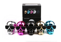$enCountryForm.capitalKeyWord Canada - High Quality Skull Speakers Mini Wireless Bluetooth Subwoofer Ghost Head Louder Speaker For Iphone Samsung with Retail box DHL Free