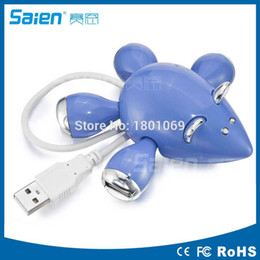 Usb Hub Mouse Canada - 4 Port USB 2.0 USB Hub Splitter 480Mbps With Separate On   Off Switch W  USB Cable For PC Laptop Mouse Free DHL Fedex