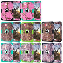 Discount armor tablet - Hybrid Branch Hard Plastic Soft Slicone Armor Shockproof Case For Ipad Mini 2 3 4 Mini4 tablet Tree Forest Ballistic Imp