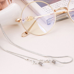 SunglaSSeS chained online shopping - New Arrival Copper String Eyeglasses Chain Reading glasses Metal Cords Sunglasses Spectacles Holders Optical frames Rope F0154