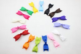 Discount hair color alligators - 20pcs 3inch high quality grosgrain ribbon hair bows clips children hair accessories baby hairbows girl hair bows with al