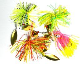 fishing spinners 2018 - HENGJIA lot 4pcs 19.8G 0.7oz spinner bait fishing lure spoons Fresh Water Shallow Water Bass Walleye Metal Sequins cheap