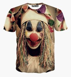 Fashion Tees Canada - 2018 fashion Harajuku mens women print clown cartoon 3d shirts camiseta feminina short sleeve tee Streetwear t shirt summer tops