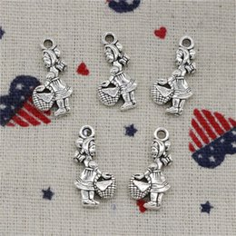 Little Hats Australia - 123pcs Charms little red hat girl 21*11mm Antique Silver Pendant Zinc Alloy Jewelry DIY Hand Made Bracelet Necklace Fitting