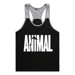 Wholesale muscle tank tops men resale online - Brand gym vest clothes fitness mens muscle bodybuilding undershirt tank tops men gym sleeveless singlet clothing