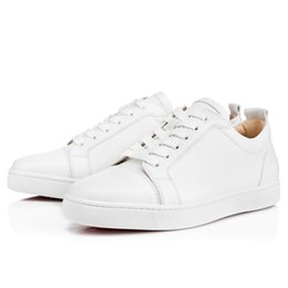 Massage De Veau Pas Cher-Blanc Cuir Genouine Cuir Junior Lowtop BNIB Loubs Junior Chaussures de skate Red Bottom Caviar Sneakers Chaussures Haute Qualité