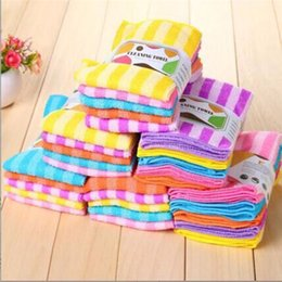 magic fiber clean NZ - 15pcs lot High Efficient Anti-grease Color Dish Cloth Fiber Washing Towel Magic Kitchen Cleaning Wiping Rags