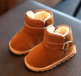 $enCountryForm.capitalKeyWord Canada - Winter Girls Boys Snow Boots Children Ankle Plush Cotton-Padded Suede Buckle Warm Booties Fashion Baby Shoes(Toddler Little Kid)