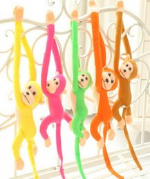 Discount toy monkey long arms - Plush Toys Colorful Wool Cloth Monkey Soft Nap Animal Cute Baby Kids Soft Long Arm Screech Monkey Plush Toy