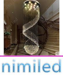 $enCountryForm.capitalKeyWord Canada - nimi1011 Dia 40-100cm Spiral Staircase Chandelier Lamp Crystal Penthouse Villa Living Room Lights Restaurant Hotel Lobby Pendant Lighting