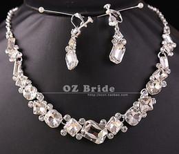 $enCountryForm.capitalKeyWord Canada - wonderful diamond stone bride wedding jewelry set necklace earings