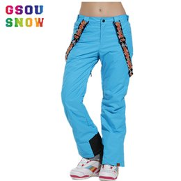 Womens Ski Pants Canada - Wholesale- gsou snow ski pants bretels snowboard  board winter trousers d2c434854