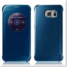 $enCountryForm.capitalKeyWord UK - Galaxy S7 Edge Mirror Case,New Design Clear Flip Smart Stay Round Window Sleep For Galaxy S7 S7 EDGE S7 PLUS S6 Edge iphone 6S plus case