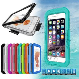 dust waterproof iphone case NZ - Waterproof Case TPU Gel Full Boday Cover Case Dust-proof Water Resistant Underwater Diving Cases high quality For iPhone 6 7plus X 8 SCA321