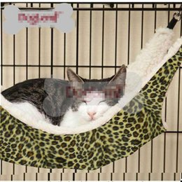 Barato Rede Oval-Hot Sale NiceWarm gato Cama Pet Hammock Para Pet Cat Rest Cat Casa Soft E Confortável Cat Ferret Gaiola IC676360