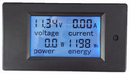 Dc voltage powereD lcD Display online shopping - to A DC LCD display DC multifunction meter Wh kWh ampere voltage power Energy meter DC multifunction panel meter