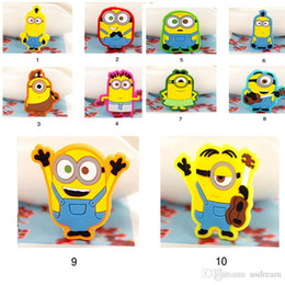 minions christmas gift NZ - Promotions 10 models Cute Minions Silicone Band Rings Flexible Band cuff for children kid statement jewelry Halloween Christmas gift 200054