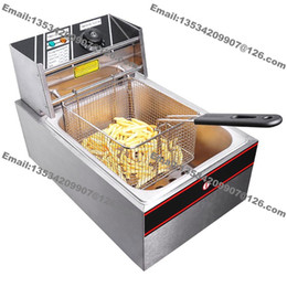 online shopping Stainless Steel Commercial Electric Countertop v v Electric L Deep Fryer with One Basket