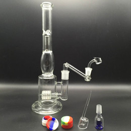 Rigs Bongs Australia - New bong glass water pipes oil rigs glass bongs clear thick glass joint with drop down adapter banger carb cap glass bowls