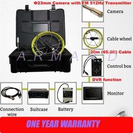 Sistema de inspección de cámara de tubería de alcantarillado Tarjeta SD de 8GB Localizador de transmisor de 512 Hz Inspección de tubería de video CCTV 710DNL