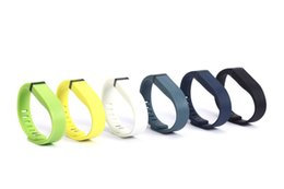 $enCountryForm.capitalKeyWord UK - wholesale Silicone Replacement Rubber Band with Clasp for Fitbit Flex Bracelet Wrist Strap High Quality 13 Colors good quality