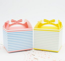 hot pink cupcakes UK - 2017 New hot sale cupcake cookies cake Dessert biscuit box paper biscuit bags Pink bow cheese mousse