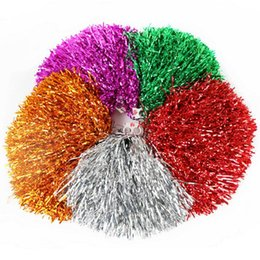 cheerleaders hand UK - Colorful Hands Cheerleading Flower Ball Customized Straight Shank Plastic Wire Cheer Stage Performance Dance Sticks Rocking Ball Cheerleader