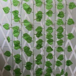 Fake Vine Foliage Canada - Artificial Foliage Ivy Leaf Garland Plants Vine Fake Flowers for Home Garden Wedding Decor Wall Hangings Garlands 240cm Length