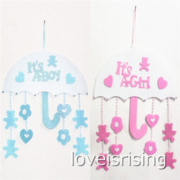 $enCountryForm.capitalKeyWord NZ - New Arrivals -1pcs lot Blue Pink Color Cute Non woven Boy & Girl Baby Showers Christenings Baby Birthday Party Supplies Hanging Decoration