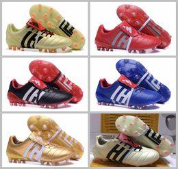Vente en gros 2017 football crampons extérieur Predator Mania Champagne FG chaussures haute qualité pas cher Soccer crampons noir or rouge hommes football bottes 39-45