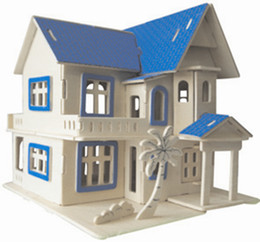 Dream houses online shopping - In Year Dream House Wooden Simulation Stereo DIY Assembly Model Educational Toys