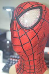 Superhero coStumeS for men online shopping - HD02 Avengers Spiderman SuperHero Head Costumes for Women Men Kids Classic Halloween Spiderman Head Hood with D Eye Mask