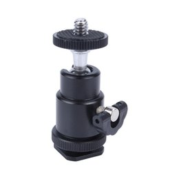 Wholesale Flash Bracket of Hot Shoe Adapter Cradle Ball Head with Lock for Camera Tripod LED Light Flash Bracket Holder Mount