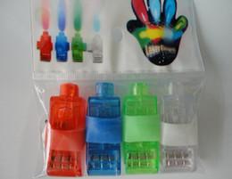 Discount kids plastic bags - Lighting finger LED light laser finger beam finger ring laser lights 4 colors with good opp bag 2017