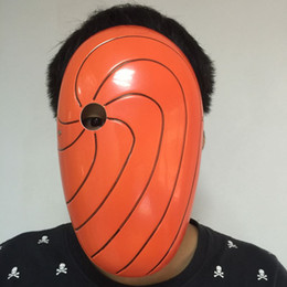 China Halloween Cosplay Costume Naruto Tobi Madara Mask Anime Uchiha Madara PVC Masks House Party Props10pcs lot High Quality Free Shipping suppliers