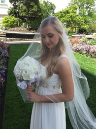 cheap veils for sale NZ - New High Quality Cheap Best Sale Cathedral White Ivory Cut Edge VeilMantilla Bridal Head Pieces For Wedding Dresses