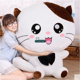 White Rabbit Stuffed Animal Canada - Dorimytrader Biggest 100cm Jumbo Soft Cartoon Plush Toy 39'' Cute Stuffed Animal Cat Pillow Kids Play Doll Great Gift DY61381