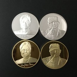 $enCountryForm.capitalKeyWord Canada - 4 pcs Hillary Clinton and Donald Trump USA president candidate 24 k gold silver plated metal souvenir American coin brand new