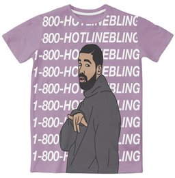 $enCountryForm.capitalKeyWord Canada - 3 Colors Real USA Size Drake 1-800-Hotlinebling Custom made 3D Sublimation print T-Shirt Plus size