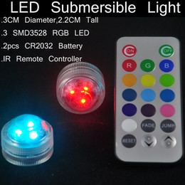 waterproof mini candles UK - Unique Design Waterproof LED Mini Candles Remote Controlled Submersible Floralite 100% Waterproof RGB Multi-colors 100pcs  lot Free Shipping