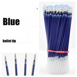 $enCountryForm.capitalKeyWord Canada - 100pcs lot Neutral Ink Gel Pen Refill Neutral Pen High Quality Black Blue Red 0.5mm Replace Refill Stationery Material Escolar
