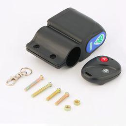 Venta al por mayor de Venta al por mayor de bicicletas-Lock vibración de la seguridad con sensor de bicicleta Sistema de bloqueo de alarma de control remoto para la bicicleta